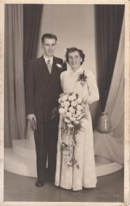 Weegen, Jacobus van der & Truus van Soldt (trouwfoto 1953)