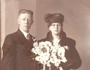 Weegen, Wilhelmus van der 26.02.1907 & Elisabeth van Eekelen (trouwfoto)