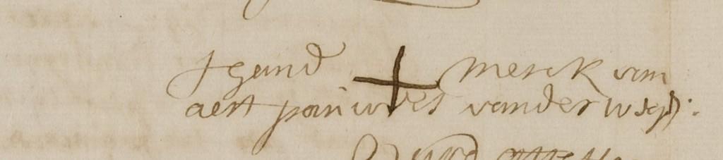 Wegen, Arnoldus P. van der 16.10.1662 (handmerk uit akte BOZ)