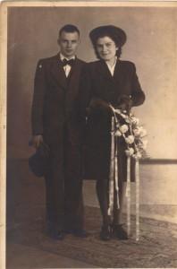 Wegen, Johannes van der 09.11.1922 & Maatje de Voogd (foto)